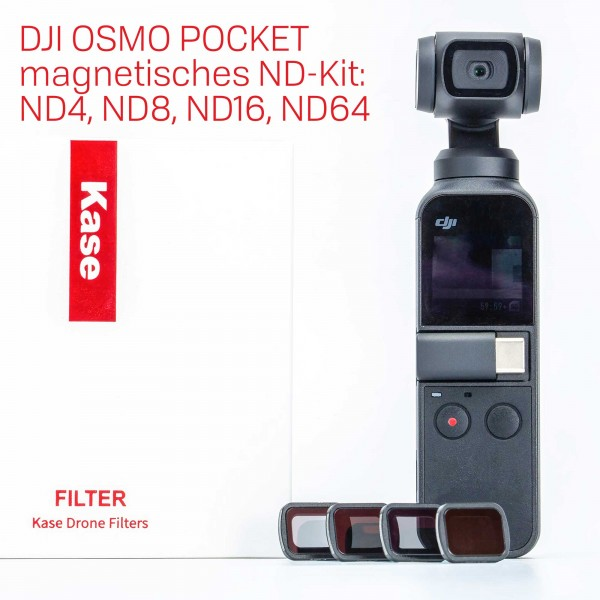 Kase DJI OSMO Pocket ND4, ND8, ND16, ND64 magnetisches ND-Kit