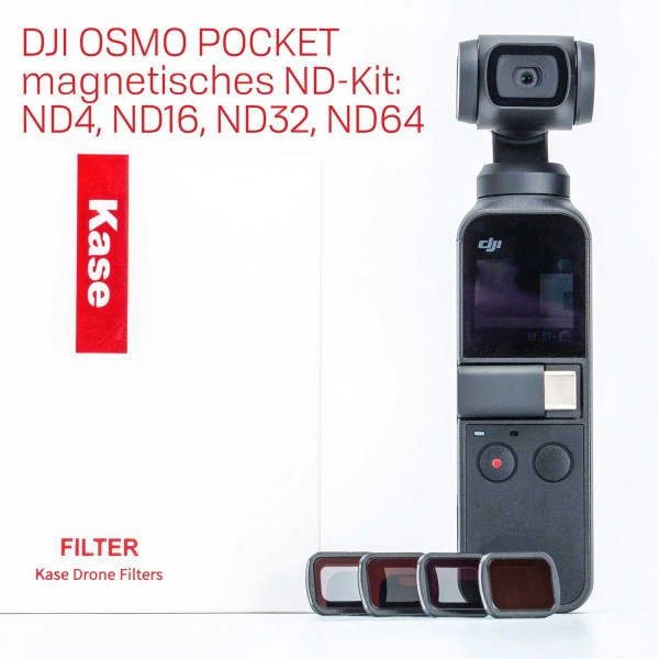 Kase DJI OSMO Pocket ND4, ND16, ND32, ND64 magnetisches ND-Kit